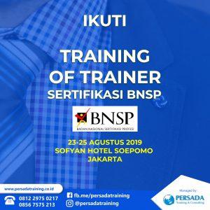 Training Of Trainer Sertifikasi BNSP